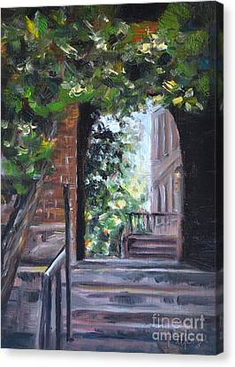 Campus Passage Canvas Print by Lori Pittenger