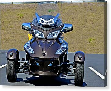 Can-am Spyder - The Spyder Five Canvas Print by Christine Till