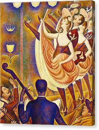 Seurat Canvas Print - Can Can Le Chahut by Georges Seurat