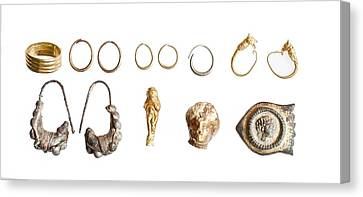 Canaanite And Iron Age Jewellery Canvas Print by Science Photo Library
