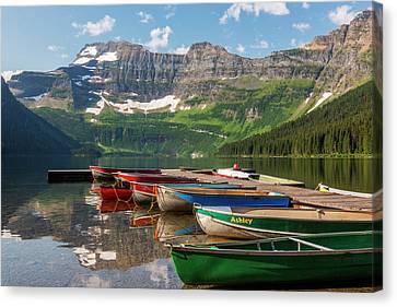 Canoe Canvas Print - Canada, Alberta, Waterton Lakes by Jamie and Judy Wild