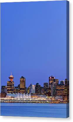 Canada, Bc, Vancouver Skyline Canvas Print by Rob Tilley