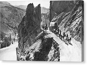 Conestoga Canvas Print - Canada Cariboo Road, 1868 by Granger