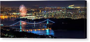 North Vancouver Canvas Print - Canada Day 2013 by Alexis Birkill