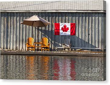 Canvas Print featuring the photograph Canada Day In Muskoka by Les Palenik