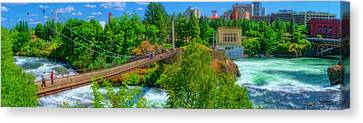 Canada Island Bridge Canvas Print by Dan Quam
