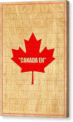 Canada Music 1 Canvas Print by Andrew Fare