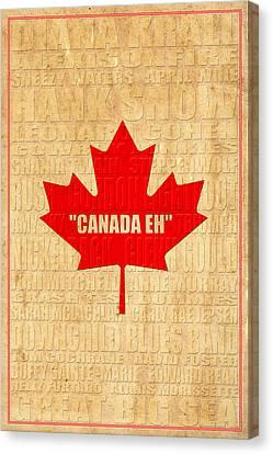 Canada Music 2 Canvas Print