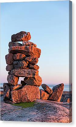 First Nations Canvas Print - Canada, Nunavut, Territory, Setting Sun by Paul Souders