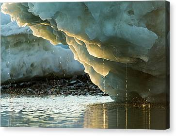 Canada, Nunavut Territory, Water Drips Canvas Print by Paul Souders