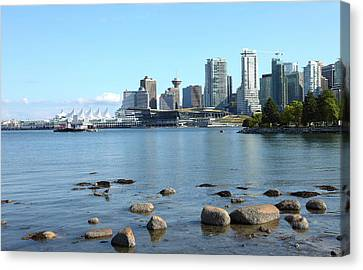 Canada Place And The Vancouver Bc Skyline Canada. Canvas Print by Gino Rigucci