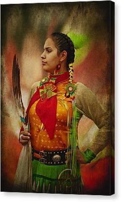 Canadian Aboriginal Woman Canvas Print