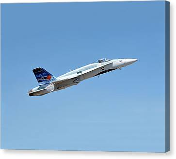 Canvas Print featuring the photograph Canadian Cf18 by Jim Poulos