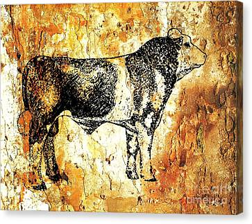 Canvas Print featuring the photograph Canadian Agribition Champion by Larry Campbell