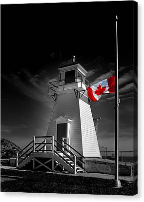 Canadian Flag Half-mast Canvas Print by Steve Hurt