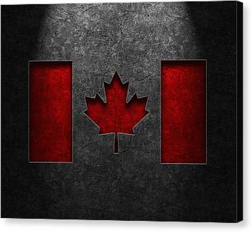 Canadian Flag Stone Texture Canvas Print by Brian Carson