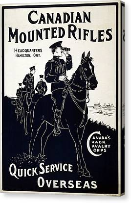 Canadian Mounted Rifles Canvas Print