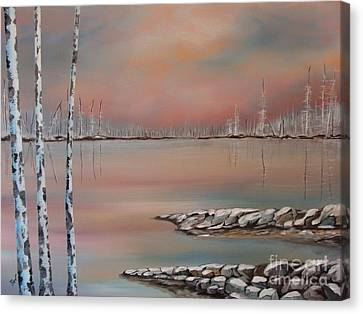 Canadian Northern Reflections Canvas Print by Beverly Livingstone