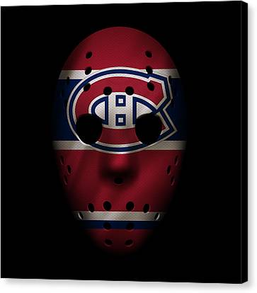 Canadiens Jersey Mask Canvas Print by Joe Hamilton