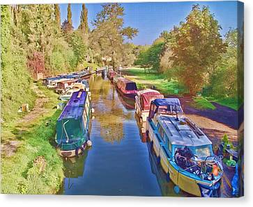 Canal Barges Canvas Print by Paul Gulliver