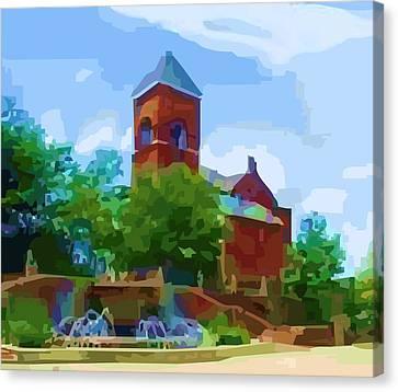 Canal Church Canvas Print