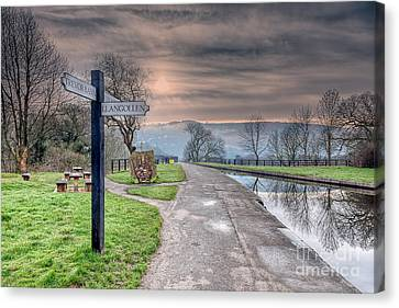 Canal Directions Canvas Print by Adrian Evans