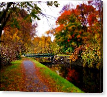 Canal Dream Canvas Print by Rodney Lee Williams