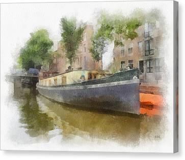 Canal Houseboat Canvas Print by Rick Lloyd