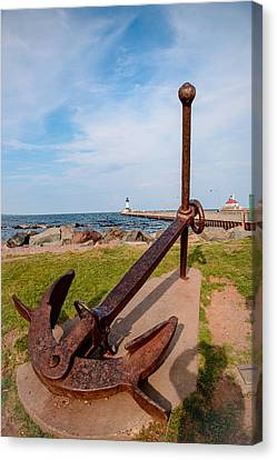 Canal Park Anchor Canvas Print by AMB Fine Art Photography