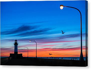 Canal Park Sunrise Canvas Print by Mark Goodman