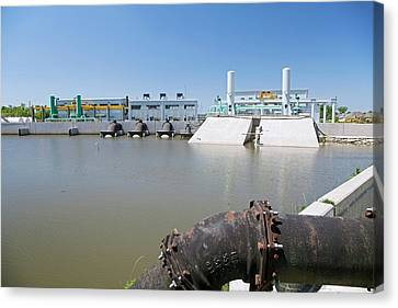 Canal Pumping Station Canvas Print by Jim West