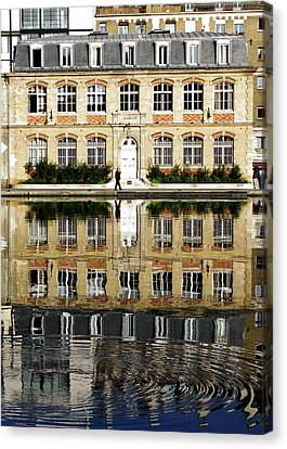 Canal Reflection Canvas Print