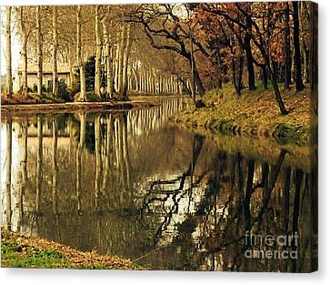 Canal Reflections Canvas Print by France  Art