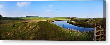 Canal Canvas Print by Riley Handforth