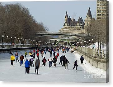 Canvas Print featuring the photograph Canal Skate II by Jessie Parker