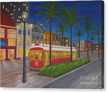 Canal Street Car Line Canvas Print