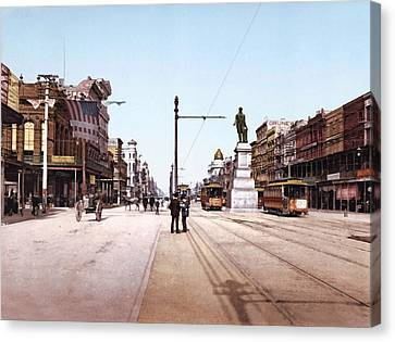 Canal Street New Orleans 1900 Canvas Print by Unknown