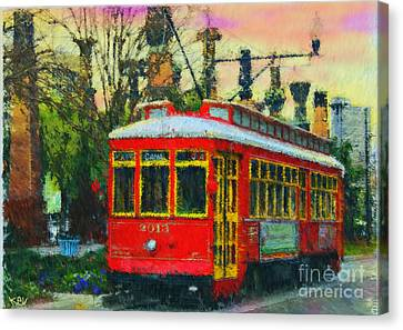 Canal Street Sunset Nola Canvas Print by Kevin Rogerson