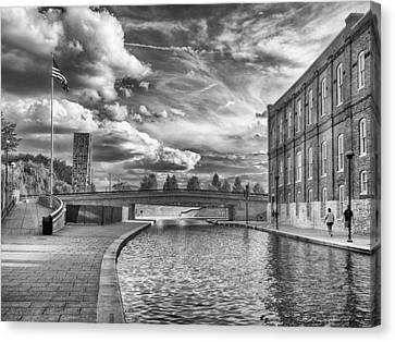 Canal Walk Canvas Print by Howard Salmon