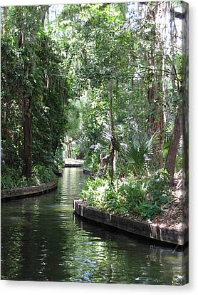 Canal Winter Park Chain Of Lakes Canvas Print