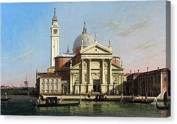 Canaletto The Church Of S Giorgio Maggiore Venice With Sandalos And Gondolas  C 1748 Canvas Print by MotionAge Designs