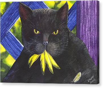 Canary? Canvas Print by Catherine G McElroy