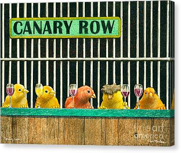 Canary Row... Canvas Print by Will Bullas