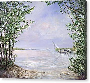 Canaveral Cove Canvas Print by AnnaJo Vahle