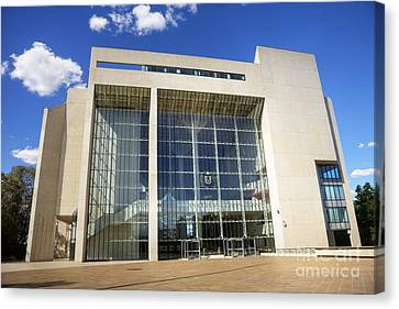 Court House Canvas Print - Canberra High Court Of Australia by Colin and Linda McKie