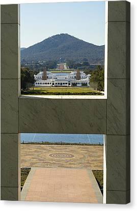 Canberra - Parliament House View Canvas Print by Steven Ralser
