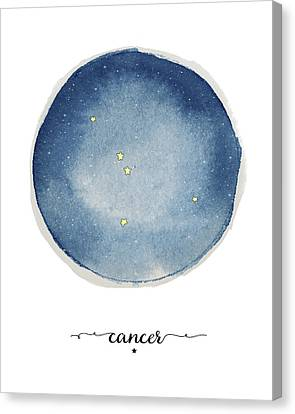 Cancer Circle Canvas Print by Amy Cummings