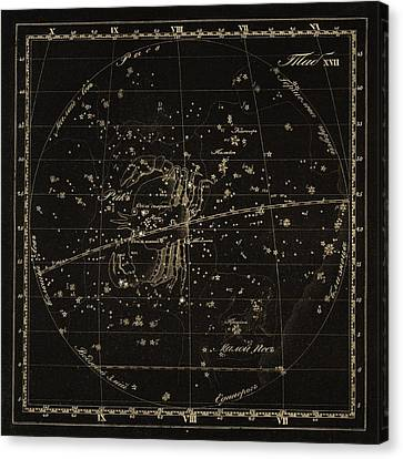 Cancer Constellations, 1829 Canvas Print by Science Photo Library