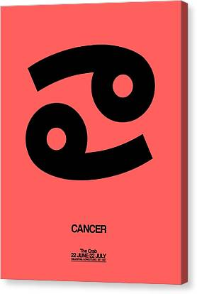 Cancer Zodiac Sign Black Canvas Print