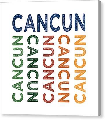 Cancun Cute Colorful Canvas Print by Flo Karp